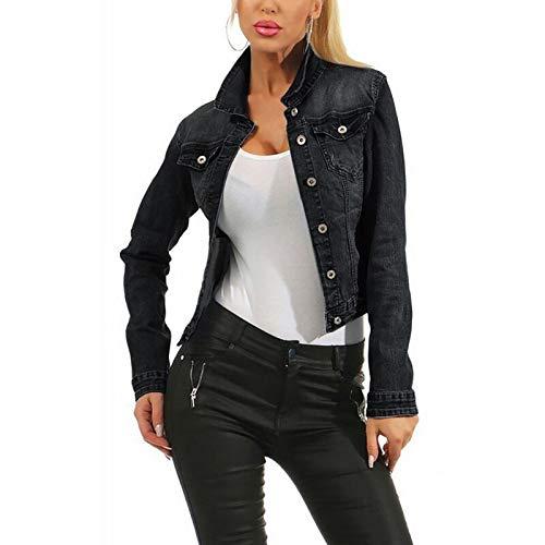 NZJK dames uitgevrande denim bomber jean jack basic button up dames casual vintage outwear herfst vrouwelijke mantel streetwear