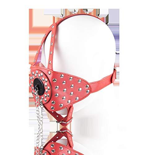 HaiNing Zheng Masculino y femenino aman la diversión con el tapón bucal tipo clavo caballo (Size : Red)
