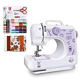 Máquina de Coser para Principiantes con Materiales de Bricolaje y Kit de Costura con 12 tipos de puntadas