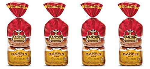 Canyon Bakehouse Gluten-Free Plain Bagels (Pack of 4) Frozen!