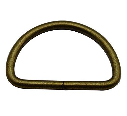 Amanaote Bronze 2' Inner Diameter D Ring High Body D Rings Non Welded Pack of 4