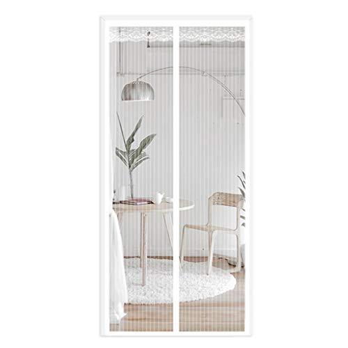 Zanzariera Magnetica Magnetic Screen Door Insetto Mosca della Tenda della Maglia Mesh automaticamente Curtain Mantiene Bugs zanzare(Bianco) (Size : 130 * 220CM)
