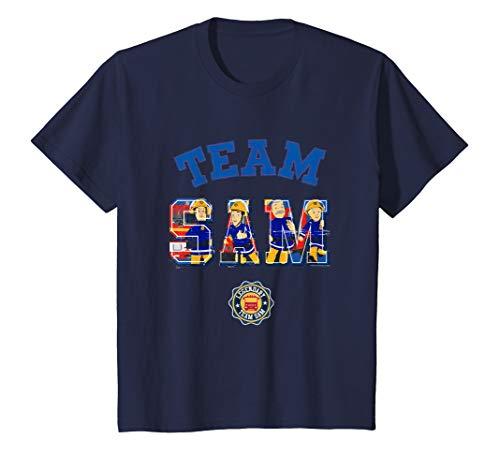 Kinder Feuerwehrmann Sam T-Shirt, Team Sam, viele Größen+Farben