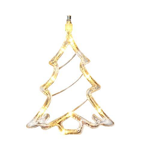 BIOBEY BIOBEY - Lámpara colgante de Navidad con ventosas, decoración de cristal en 3D para interiores, guirnalda de luces decorativa