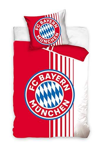 FC Bayern München Bettwäsche 140x200cm rot/Weiss BMFC201002-P
