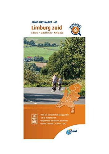Fietskaart Limburg zuid 1:66.666: Sittard, Maastricht, Kerkrade