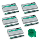 Lamy T10 Green Fountain Pen Ink Cartridges Refills Replacement Spare For All Lamy Fountian Pens (Pack Of 5 -...