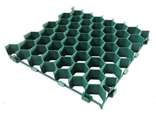 WUEFFE Grigliato salvaprato salvaverde in plastica carrabile Erba Block (36 Pezzi)