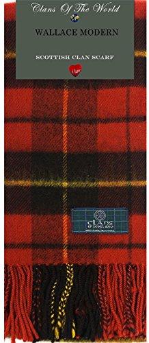 I Luv LTD Wallace Modern Tartan Clan Scarf 100% Soft Lambswool