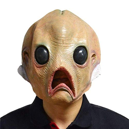 LLWGNZM Maske-1 Stücke Alien Latex Gruselige Maske Atmungsaktive Vollgesichtsmaske Halloween Maskerade Scary Maske Kostümfest Cosplay, wie das Bild, A