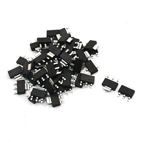 TOOGOO 50pzs AMS1117-3.3 Regulador de voltaje de baja caida 3.3V 1A SOT-223