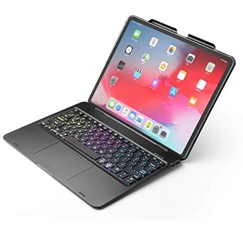 Case2go iPad Pro 12.9 (2020) - QWERTY - Funda con teclado Bluetooth - Luz trasera - Touchpad - Negro