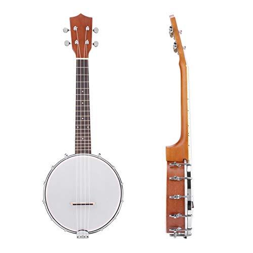 Banjos, banjo para principiantes, banjo de viaje, ukelele de concierto, kit para principiantes de banjoe de arce y palisandro, banjolele de 4 cuerdas, para principiantes
