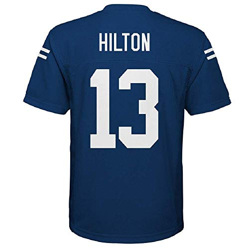 OuterStuff T.Y. Hilton Indianapolis Colts NFL Youth 8-20 Blue Home Mid-Tier Jersey (Youth Large 14-16)