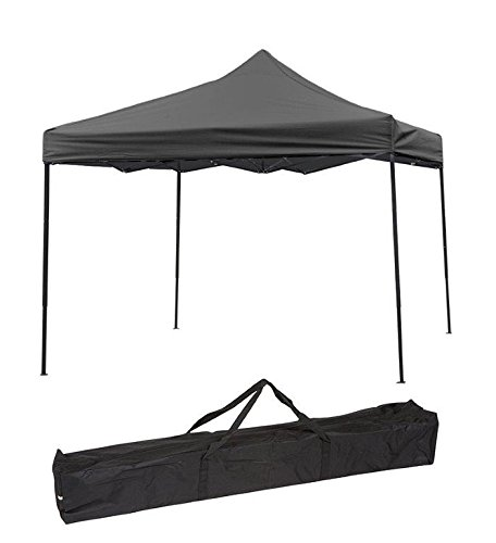 Trademark Innovations Lightweight and Portable Canopy Tent Set - Black Canopy Cover