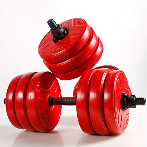 CCLIFE 2in1 Set manubri Regolabili Pesi Fitness 2 manubri Regolabili con Barra Bilanciere Fitness Palestra Pesi 20 30 40kg