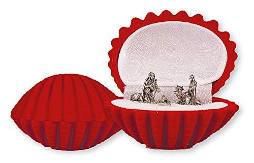 Loving Jesus Christmas NATIVITY SET/Miniature 5 Figures 1' VELVET Gift Box