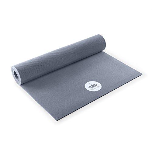 Lotuscrafts Naturkautschuk Yogamatte Oeko - rutschfest - 100% natürlich & ökologisch - Profi Matte für Yoga & Pilates - ideal für dynamische...