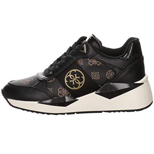 Guess Sneaker Running Loghi Zeppetta Brown Black FL5TESFAL12