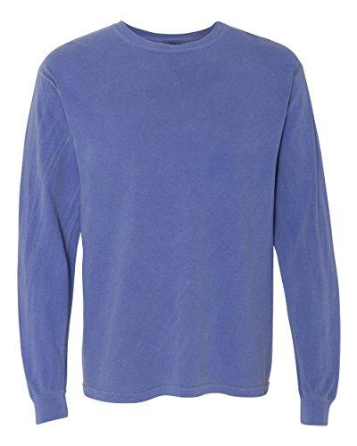 Comfort Colors 6014 Adult Heavyweight Ringspun Long Sleeve T-Shirt - Periwinkle - 4XL