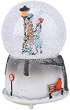 AUNMAS LED Musical Snow Globe The Lovers Shape Light Lamp Music Box Night Light Desktop Ornament Home Decor