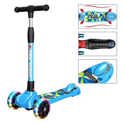 New Olym Kick Scooter for Kids 3 Wheel Toddler Scooter for Boys Girls Folding Mini Scooter with Safety Brake for Children Ages 312 Years