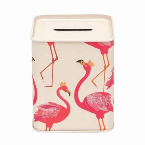 Elite tins Sara Miller Flamingo Spardose aus Blech