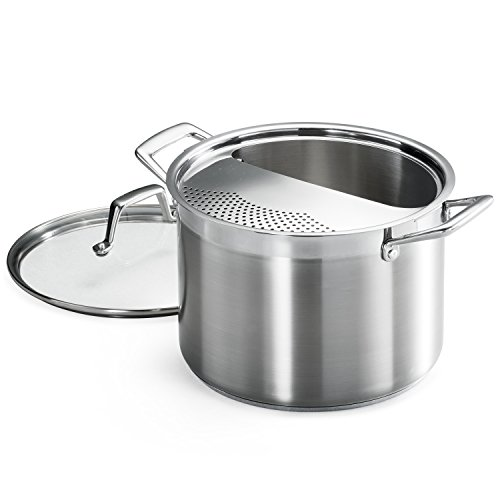 Pasta Cooker Pot with Strainer Lid