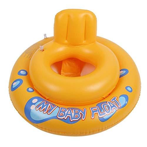 N/R Piscina Gonfiabile per Bambini Anello per Bambini Piscina Estiva Cigno Nuoto Galleggiante Acqua Divertimento Giocattoli da Piscina Anello da Nuoto Sedile Sport da Barca per 3-6 Anni, Giallo, Cina