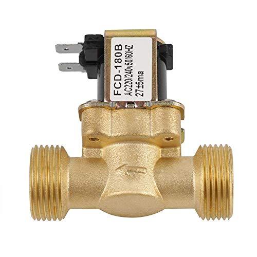 GUOCAO G3 / 4 2 vías de entrada de agua N/C válvula de solenoide eléctrica cerrada normal CA 220 / 240V FCD-180B Válvula