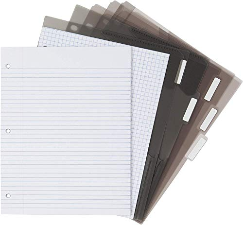Five Star Flex Hybrid NoteBinder, 1 Inch Binder with Tabs, Notebook and 3 Ring Binder All-in-One, Purple (72522) Photo #4