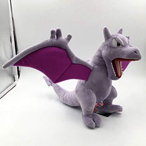 YCEOT Muñeco de Peluche Dinosaurio de Anime Juguete de Peluche Suave Regalo para Niños 25cm Gris