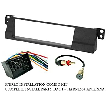 Amazon.com: BMW - Stereo wiring Harness, Dash Install Kit Faceplate, with  FM Antenna Adaptor (Combo Complete Aftermarket Stereo Wire and Installation  Kit): Car ElectronicsAmazon.com