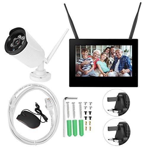 BOLORAMO Baby Monitor Camera Mini cámara de vigilancia 3MP para Seguridad en el(British regulations (110-240V))
