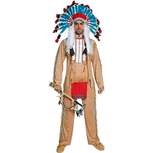 Smiffys Déguisement Homme, Chef amérindien, avec Haut et pantalon, Taille M, 36160