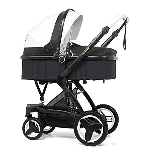 Cochecito de bebé, Cochecito de bebé convertible compacto, Sistema de viaje Cochecito de bebé Cochecito de bebé portátil, Cochecito multifuncional Paraguas de alta vista Cochecito de bebé, Arnés de 5