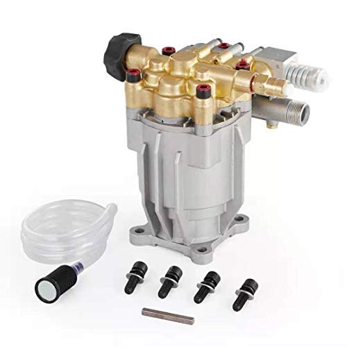 "Atima Pressure Washer Pump 2.5 GPM 2900 PSI Horizontal 3/4"" Shaft fit 6.5 HP Engine Brass Head Replacement Pump"