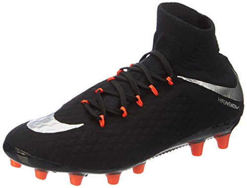 Nike Men's Hypervenom Phatal Iii Agpro Footbal Shoes, Black...
