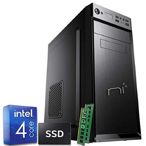 Pc Fisso assemblato intel quad-core 16gb ram DDR4 480 gb ssd windows 10 pro preinstallato wifi incluso hdmi