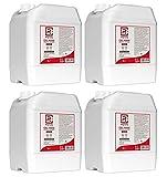 4 taniche da 5 litri cadauna di gel con il 70% di ALCOL Gel mani profumato al limone arricchito con olii essenziali di Aloe e Timo Rmove 20 litri totali