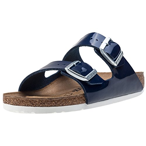 BIRKENSTOCK Damen Arizona Birko-Flor Bout öffnen, Blau (Vernis Dress Blue), 36 EU