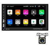 Doble DIN Car Radio Car Android Navegación GPS WiFi Car Stereo Reproductor de FM Bluetooth Car Stereo 7 Pulgadas Pantalla táctil Entrada AUX USB Cámara de visión Trasera