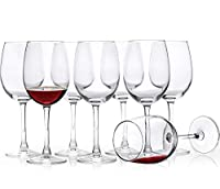 CZUMJJ 16オンス ワイングラス 8個セット ステムド レッド&ホワイト ワイングラス クリア