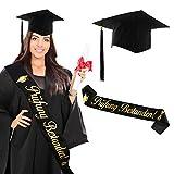 HOWAF Gorra de Graduado con Faja aprobada para la graduación de la Escuela Secundaria, Regalos ABI, Gorra de Estudiante Unisex para graduación de la Escuela Secundaria, para Disfraces de médico