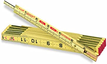 Lufkin X46 6-Feet Heavy Duty Wood Extension Rule with Brass Plated End Caps