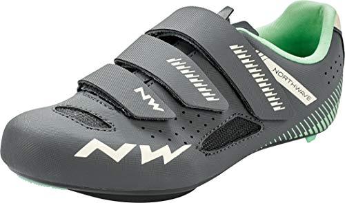 Northwave Core 2021 - Zapatillas de ciclismo para mujer, color gris y verde, color, talla 41.5 EU