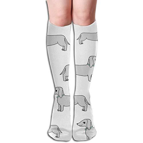 xinfub Doxie Hunde-Stoff Dackel-Design Andrea Lauren Stoff Unisex-Komfortable Crew Socken Sportsocken für Laufen, Sportsport, Flug, Reisen, bequem, 46 cm