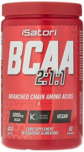 Integratore Alimentare di Aminoacidi Ramificati, Riduce la Stanchezza e la Fatica, Con Vitamina B6 e B12, 400 Compresse