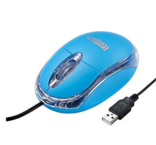 Mini PC Maus Optische Laser Kabelgebunden Ergonomische Mit Kable Verwendet Auf Computer Laptop Notebook Blau MEHRWEG