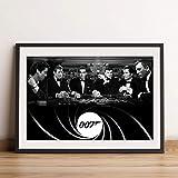 James Bond Casino Poster für A4 Rahmen